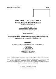 znak sprawy: IF/ZP-31/2009 SIWZ