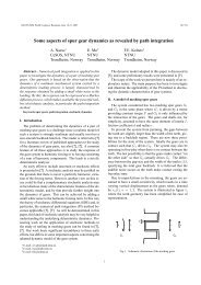 Some aspects of spur gear dynamics as revealed by path ... - IFToMM