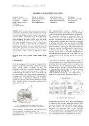 Modeling of motion of vibrating robots - IFToMM
