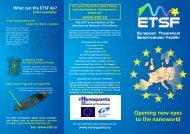 ETSF leaflet - Friedrich-Schiller-Universität Jena