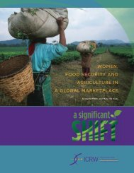 Women, Food Security and Agriculture in a Global ... - ReliefWeb