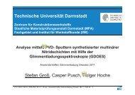 Analyse von multinären PVD N-Schichten auf Magnesium ...