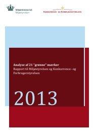 Analyse af 21 'grønne' mærker - Konkurrence- og Forbrugerstyrelsen