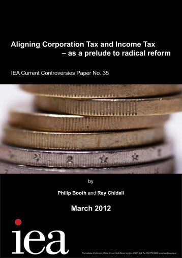 Aligning Corporation Tax and Income Tax - Institute of Economic ...