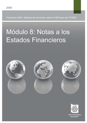 Módulo 8: Notas a los Estados Financieros - IFRS - International ...