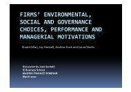 firms' environmental firms environmental, social and governance ... - IE
