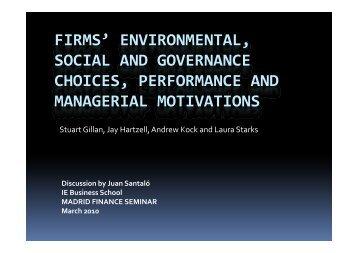 firms' environmental firms environmental, social and governance ... - IE