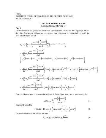 Løsningsforslag til øving 6 - Institutt for elektronikk og ...