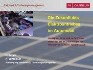 Die Zukunft des Elektroantriebs im Automobil