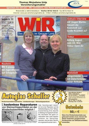 Nutzen Sie jetzt noch - Das WIR-Magazin im Gerauer Land