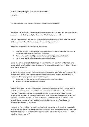 Laudatio zur Verleihung des Egon-Matzner-Preises 2013 6 ... - IFIP