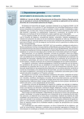 I. Disposiciones generales - Escuela de Arte de Zaragoza