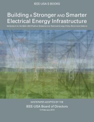 Building a Stronger and Smarter Electrical Infrastructure - IEEE-USA