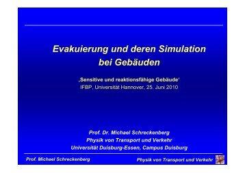 Evakuierung und deren Simulation bei Gebäuden