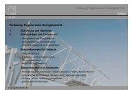 Inhalt Vorlesung Regenerative Energietechnik 1. Einführung und ...