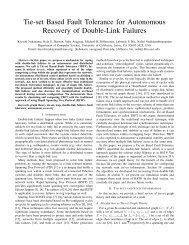 Tie-set Based Fault Tolerance for Autonomous Recovery of Double ...