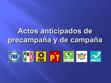 Actos anticipados de precampaña y de campaña - Instituto Electoral ...