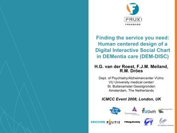 Finding the service you need: Human centered design of a ... - ICMCC