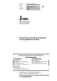 Para aprobación Directrices acerca de las relaciones con los ... - IFAD