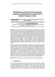 Modelling social and environmental impacts of watershed ...