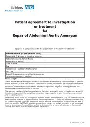 Abdominal Aortic Aneurysm Repair Consent - ICID
