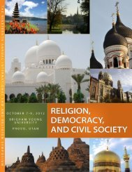Program - International Center for Law and Religion Studies