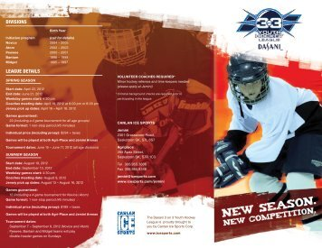 DIVISIONS LEAGUE DETAILS - Canlan Ice Sports