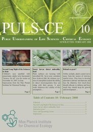 Issue 10 February 2008 - Max Planck Institute for Chemical Ecology