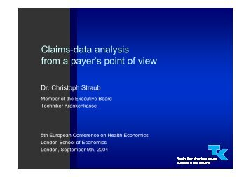 Claims-data analysis from a payer's point of view