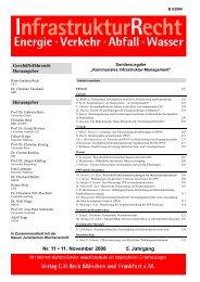 IR - Infrastruktur Recht - 11/2008 - IGES Institut GmbH