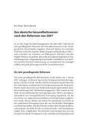 Das deutsche Gesundheitswesen nach den Reformen von 2007
