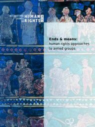 Human Rights Approaches to Armed Groups - The ICHRP