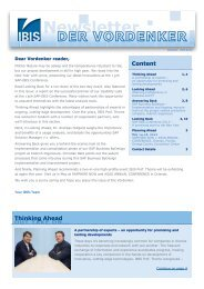 Newsletter - IBIS Prof. Thome AG