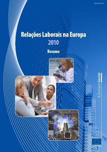 Relações Laborais na Europa, 2010 — Resumo