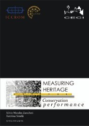 Measuring Heritage Conservation Performance - Iccrom