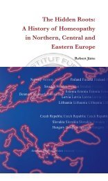 The Hidden Roots: A History of Homeopathy in Northern, Central ...