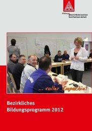Bildungsangebot 2012 des IGM-Bezirkes Niedersachsen/Sachsen ...