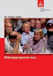 Bildungsprogramm 2012 - IG Metall Bezirk Berlin-Brandenburg ...