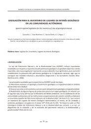 legislación para el inventario de lugares de interés geológico en las ...
