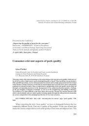 Klaus Fischer – Consumer-relevant aspects of pork quality... 269