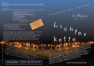 Aufruf zur Lichterkette - IG Metall Salzgitter-Peine