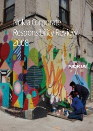 Nokia Corporate Responsibility Review 2008