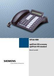 Návod pro optiPoint 410 economy a optiPoint 410 standard