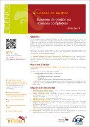 Plaquette Licence de gestion - Institut de gestion de Rennes ...
