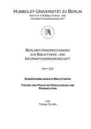 HUMBOLDT-UNIVERSITÄT ZU BERLIN