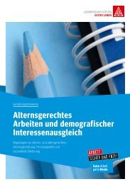 Alternsgerechtes Arbeiten und demografischer ... - IG-Metall