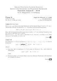 SS 09 ¨Ubung 10 - Institut für Geometrie und Praktische Mathematik