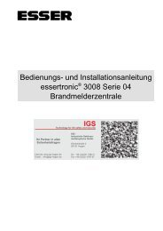 Brandmelderzentrale Essertronic 3008 - IGS-Industrielle ...
