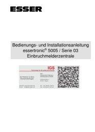 Einbruchmelderzentrale Essertronic 5005 - IGS-Industrielle ...