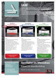 Bestellformular Systemstände der Firma Verkerk (PDF) - IAW Messe